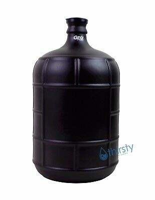 Black 3 Gallon GLASS Water Bottle Frosted Carboy Canteen Jug Container Jar Brew