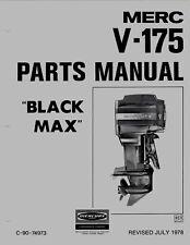 1978 Mercury Merc V-175, Black Max 4301235 and up Parts