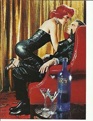 "#12 ""THE CHAIR"" SKYY Vodka-  1998 print magazine ad"