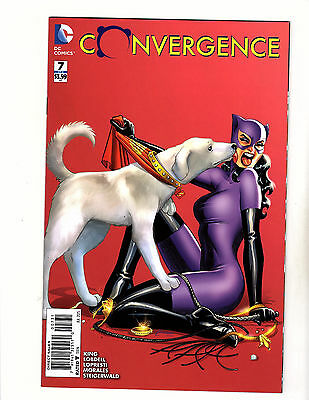 Convergence #7 (2015 DC) NM- 1:25 Amanda Conner Variant Cover Catwoman Krypto