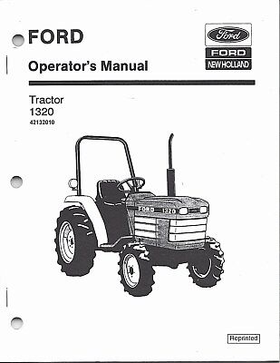Ford Model 1320 Tractor Operators Manual 42132010
