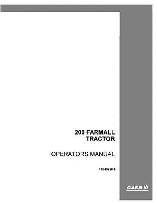 Case 200 Tractor Operators Manual