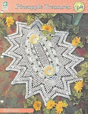 Reflections Centerpiece Doily Crochet Pattern - Pineapple Treasures HOWB (Reflections Crochet)