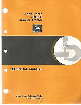 John Deere Jd450-b Crawler Tractors Loader Technical Service Manual