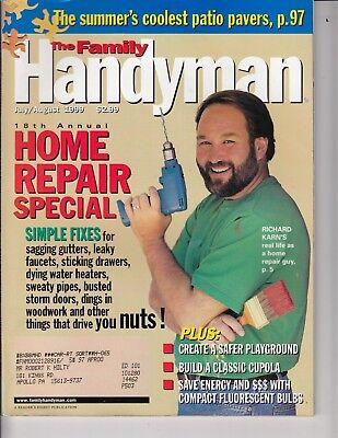 The Family Handyman Magazine Jul/Aug 1999  Home Repair Special Fixes , Cupola d'occasion  Expédié en Belgium