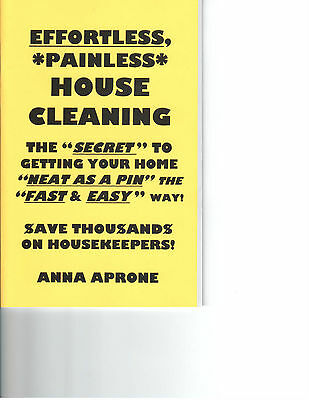 EFFORTLESS, PAINLESS HOUSE CLEANING book housekeeping tips & tricks hoarding