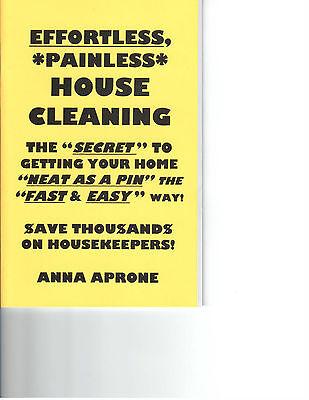 EFFORTLESS, PAINLESS HOUSE CLEANING book housekeeping tips & tricks hoarding