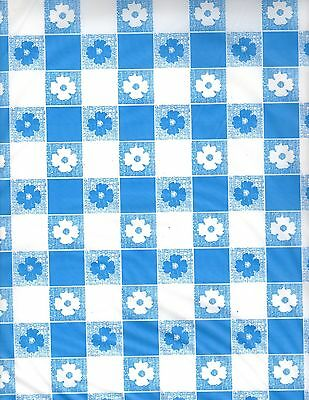 Blue and White Gingham table cover tablecloth plastic 84