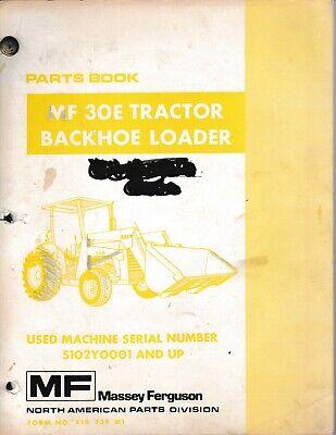 Massey-ferguson 30e Tractor Backhoe Loader Parts Manual