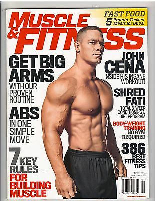 MUSCLE & FITNESS bodybuilding magazine WWE Wrestling JOHN CENA 4-14 no label](John Cena Muscle)