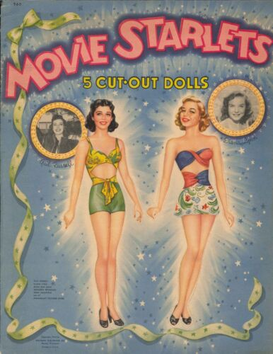 VINTGE UNCUT 1946 Movie Starlets PAPER DOLL LASER REPRODCTON~LO PR~HI QU FREE SH