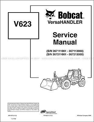 Bobcat V623 Versahandler Revision 2012 Update Printed Service Manual 6901675