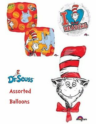 Dr Seuss The Cat In The Hat Balloons Party Ware Decoration Novelty Gift Helium