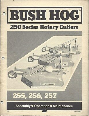 Bush Hog 250 Series Rotary Cutteroperator Manual 64873