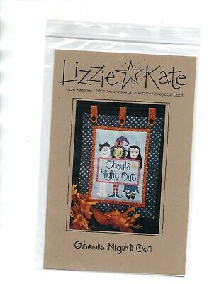 Lizzie Kate Ghouls Night Out Pattern Halloween Friends Witch Ghost Vampire