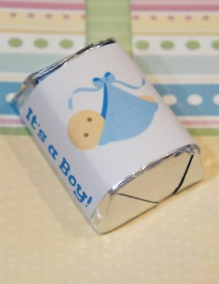 30 Baby Shower Its A Boy Blanket Hershey Candy Nugget Wrappers Stickers (Boy Candy Wrappers)