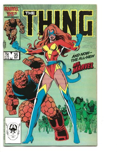 Thing 35 (1986) 1ST APPEARANCE POWER BROKER!!!  1ST NEW MS. MARVEL!!!