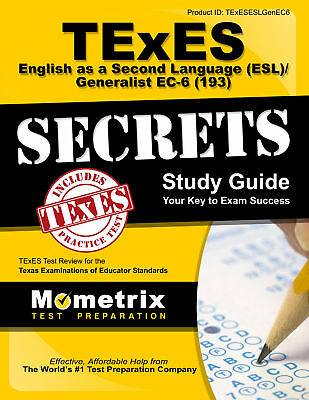 Texes English As A Second Language  Esl  Generalist Ec 6  193  Secrets