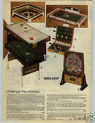 1979 Paper Ad Game Electric Baseball Super Bowl Football Cowboys Steelers Mvp