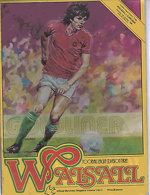 Walsall v Carlisle 4 October 1980 - Official Matchday Football Programme