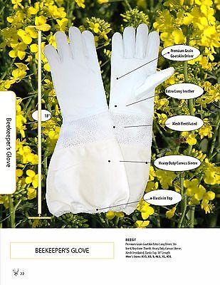 New Vented Goatskin Beekeeping Gloves - Size Xl Xlarge