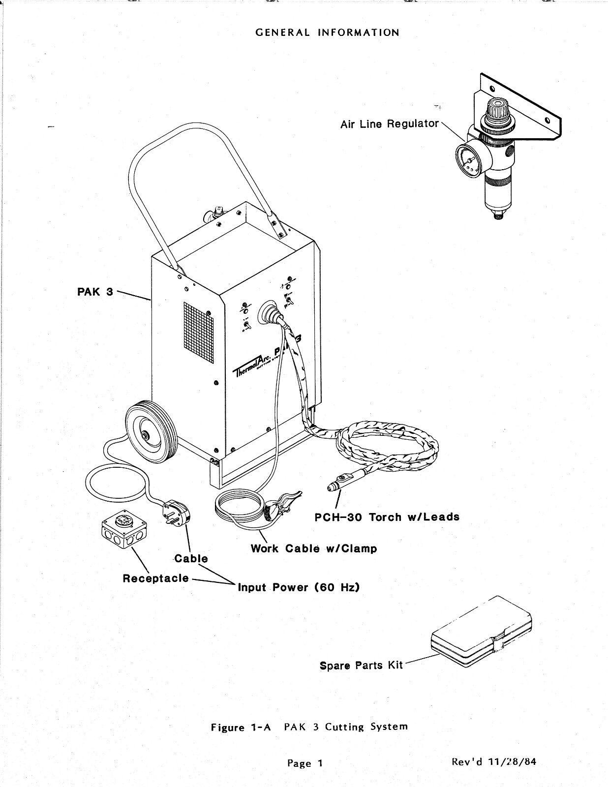 thermal dynamics pak 3 plasma cutter instruction manual 970 rh picclick com Pak 5XR Plasma Cutter Parts thermal arc pak 5xr plasma cutter manual
