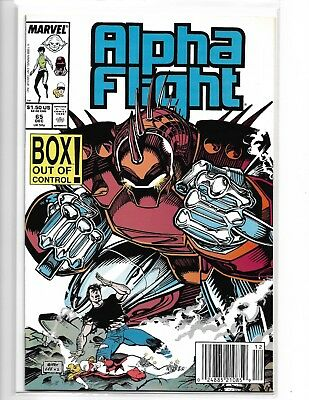 ALPHA FLIGHT #65 JIM LEE UPC BARCODE