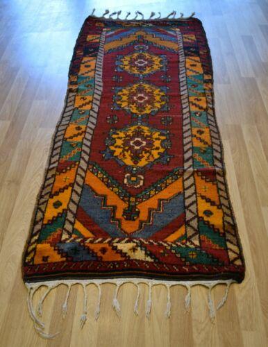 Vintage Caucasian Nomadic Kazak Handmade Runner Rug 3Ft x 9Ft Free Shipping