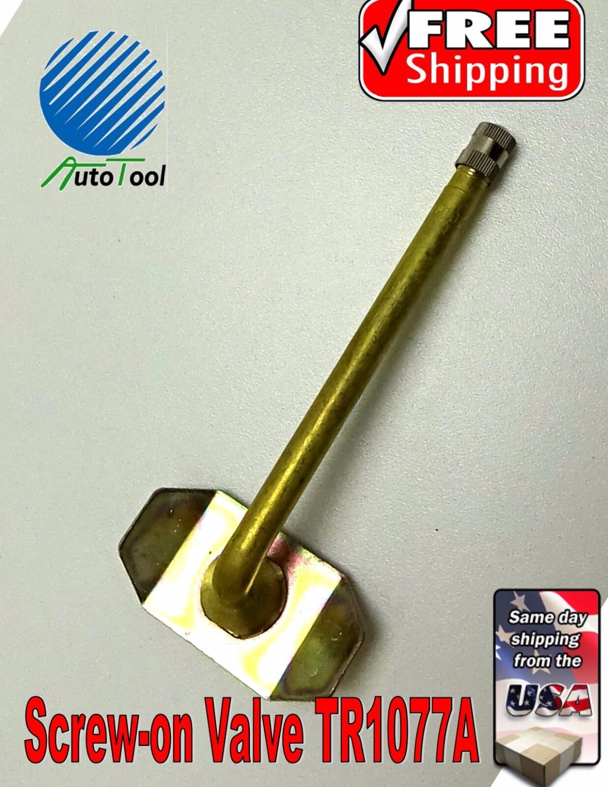 """Tire Valve Truck Screw-On Repair Valve 4"""" TR1077A FOR USE IN TUBE WITH TRSP1000"""