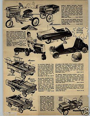 1962 PAPER AD Murray Pedal Car Garton Kidillac Hamilton Tow Truck Wrecker