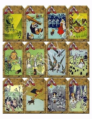 12 Wizard of Oz Vintage Hang Tags Scrapbooking Paper Crafts (285)