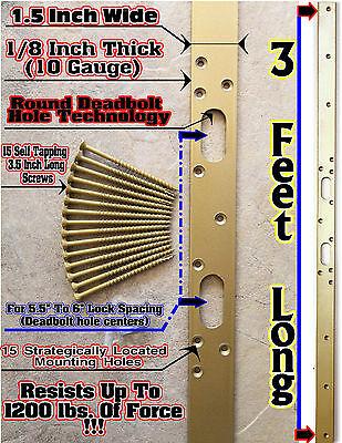 Security Door Jamb Reinforcement / Latch Strike