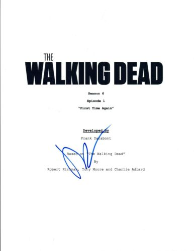 Norman Reedus Signed Autographed THE WALKING DEAD First Time Again Script COA VD