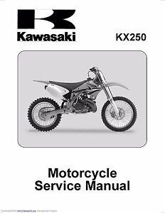 kawasaki kx250 manual ebay rh ebay com 93 KX250 97 KX250