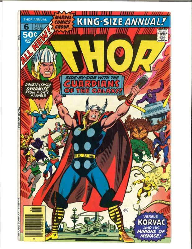 THOR ANNUAL 6 Guardians of the Galaxy Appearence Marvel Comic 1977