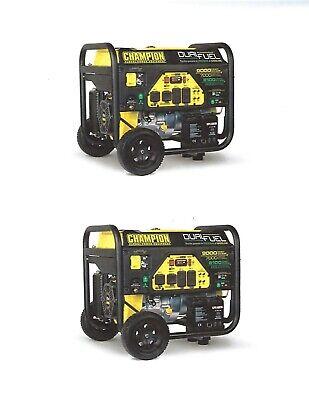 100155R (Lot of 2)- 7000/9000w Champion Dual Fuel Generators - REFURBISHED