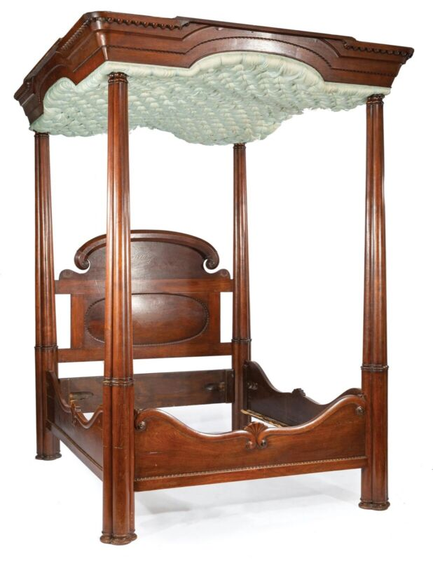 Mahogany Tester Bed attr. McCracken Brothers