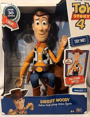 Disney Pixar Toy Story 4 Sheriff Woody Deluxe Pull-String Talking Action Figure