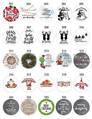 30 Christmas Holiday White Envelope Sticker Seals - You pick design and wording!](30 Halloween Words)