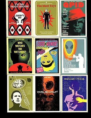 Star Trek The Next Generation Portfolio Prints series 2 base Set & P1& WRAPPER