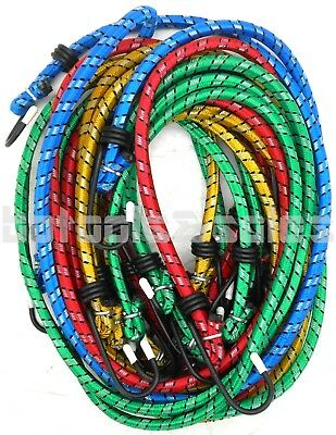 10pc Bungee Cord Tie Down Set 12 18 24 30 36 H-d Color Straps 2 Hook End