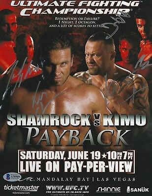 Used, Frank Mir Ken Shamrock Kimo Tim Sylvia +1 Signed UFC 48 8.5x11 Poster BAS COA for sale  San Diego