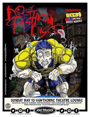 DOG FASHION DISCO 2015 Gig POSTER Portland Oregon Concert