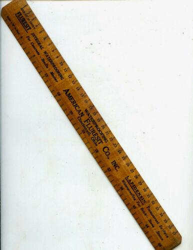 Antique American Fluresit Co., Inc. Wood Rule, 12 Inch, Cincinnati, Ohio