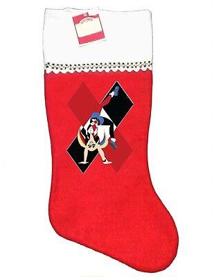 HARLEY QUINN CHRISTMAS STOCKING, SOFT FELT, NEW & UNIQUE! - Harley Quinn Stocking