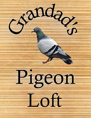 METAL SIGN GRANDADS PIGEON LOFT NOVELTY SIGN XMAS GIFT 103