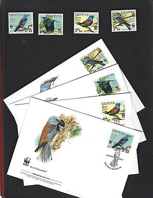 Lithuania sc#874-7 (2008) Complete MNH + Set on FDC's