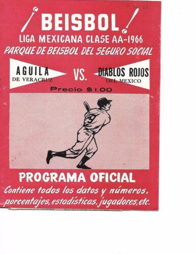 1966 Mexico City Diablos Rojos-Veracruz Aguilas Mexican League Program RARE!!