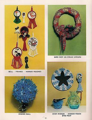 Macrame Ornament Rahmen,Spiegel & Vogel Nest Weihnachten Knoten und Bögen Buch