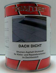 Dach Dicht Bitumen-Asphalt-Dichstoff 1kg Dose ( 5,90€ 1kg)